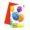 Invitationer med balloner
