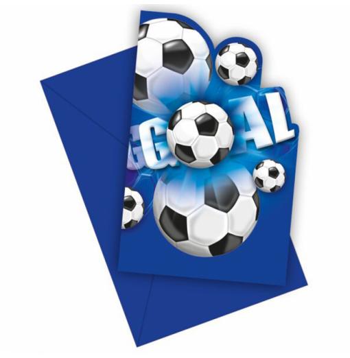 Invitationer med fodbold