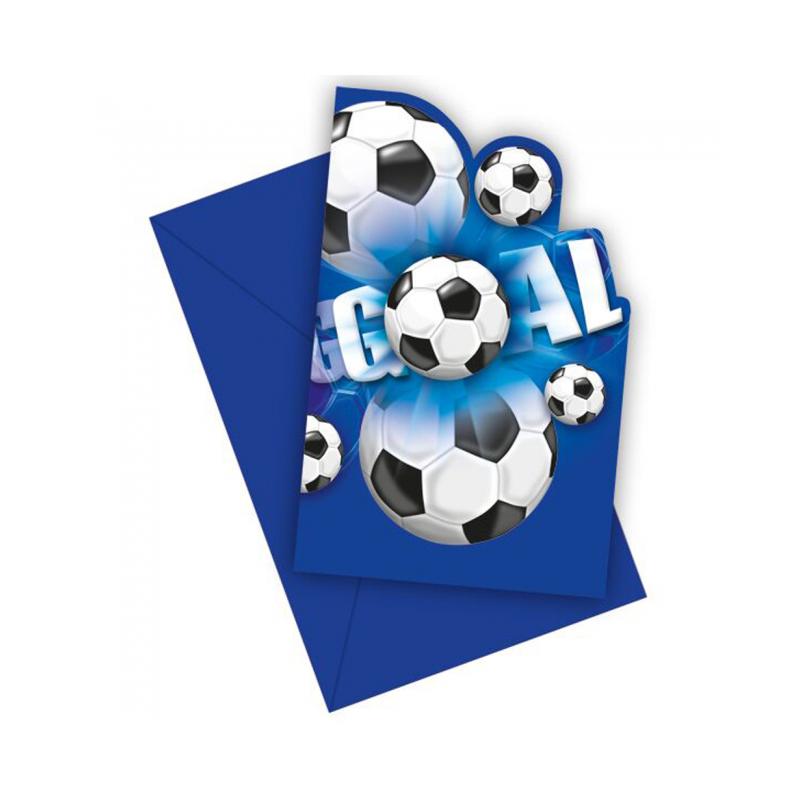 Invitationer med fodbold Invitationer