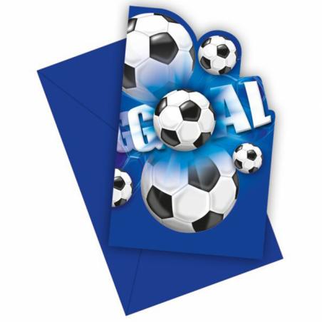 Invitationer med fodbold - 766