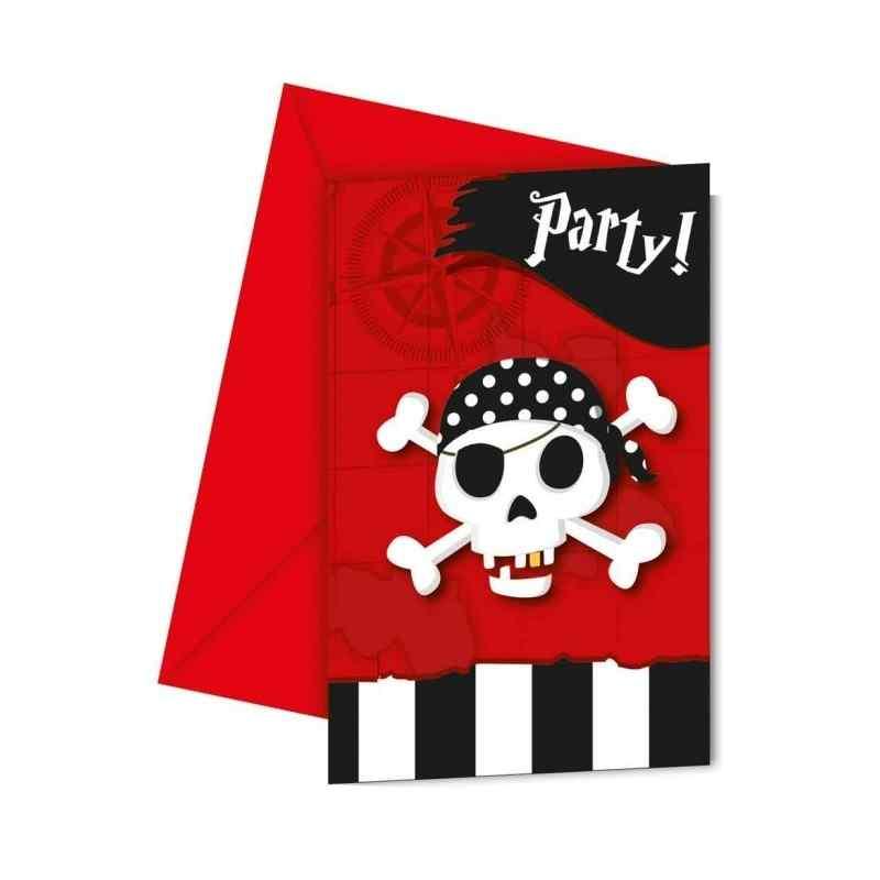 Invitationer med pirater Invitationer
