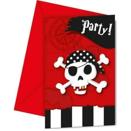 Invitationer med pirater - 768