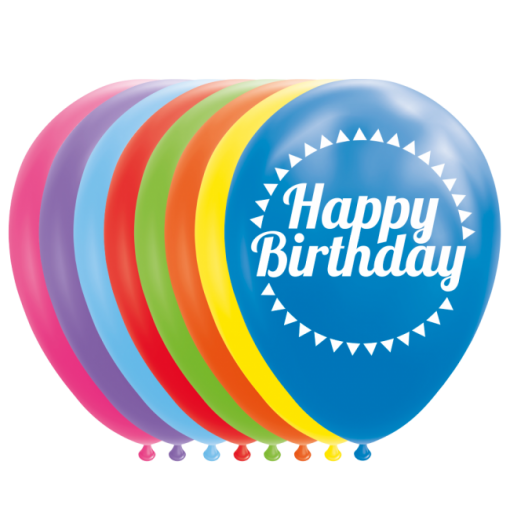 "Happy birthday balloner 12"""
