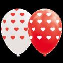 """Hjerte balloner 12"""" Balloner med print"""