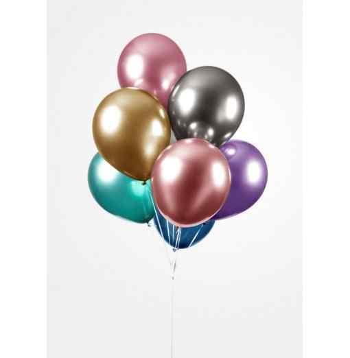 "Chrome mix balloner 25 stk. 12"" Balloner"