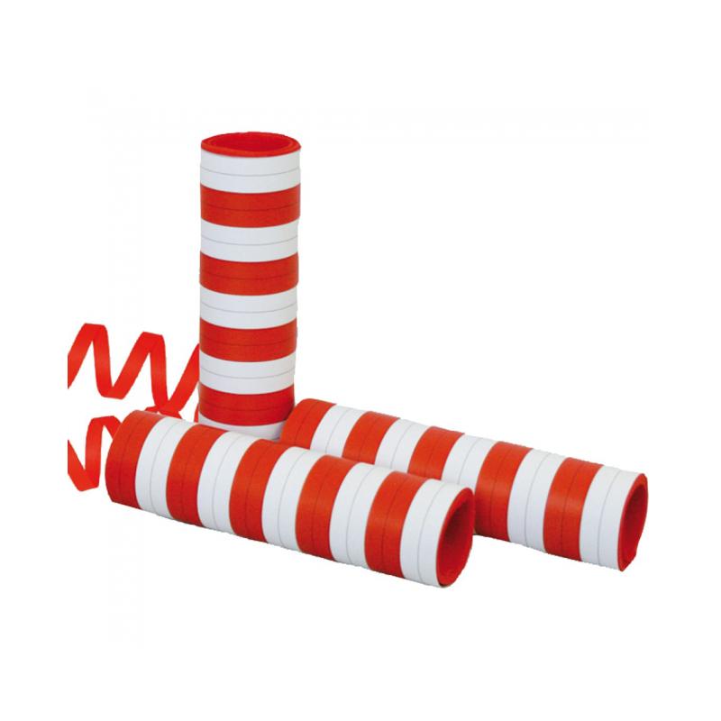 Røde & Hvide serpentiner Konfetti