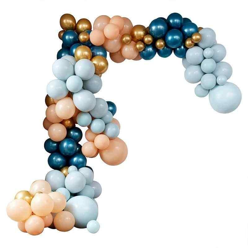 Stor Luksus Ballonbue - Blå/Pastel