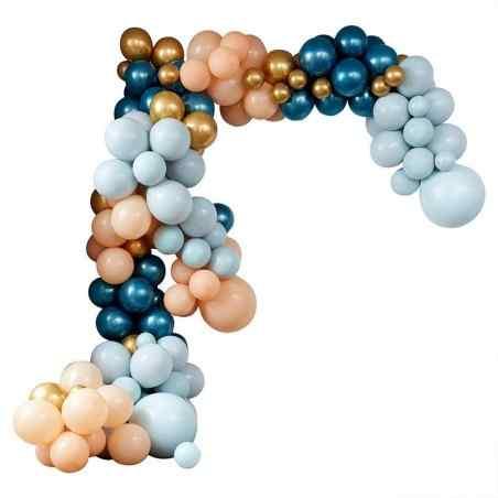 Stor Luksus Ballonbue - Blå/Pastel - 896