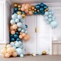 Stor Luksus Ballonbue - Blå/Pastel Ballon Buer