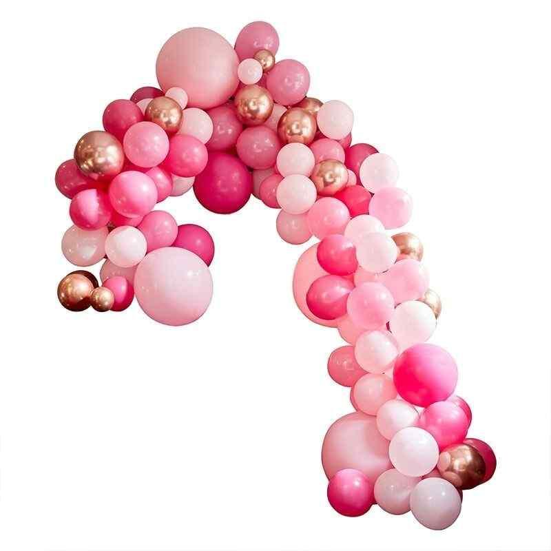 Stor Luksus Ballonbue - Pink