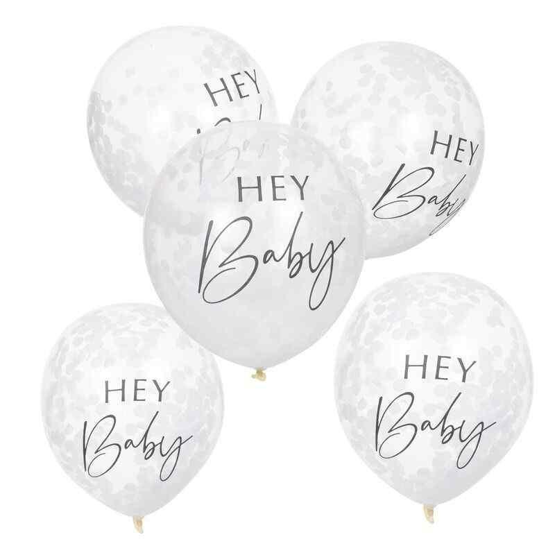 Hey Baby - Konfetti Balloner