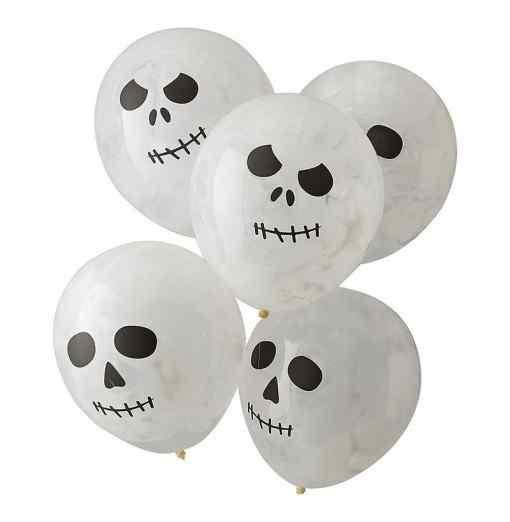 Balloner med Kranie print Halloween