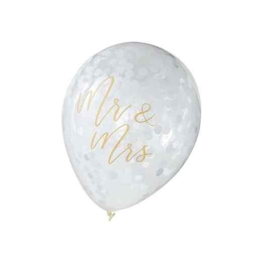 Mr & Mrs Balloner - Guld Bryllup