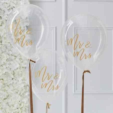 Mr & Mrs Balloner - Guld - 917