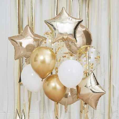 Ballon Mix - Guld og Hvide Balloner - 922