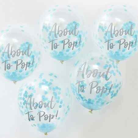 About to pop! Balloner - Blå - 932