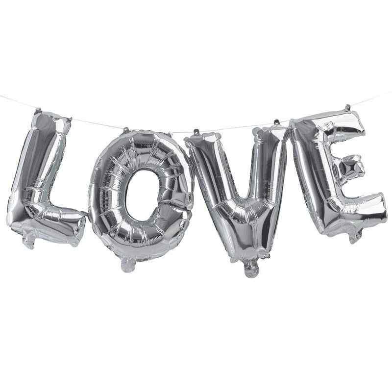 """""""Love"""" - Bogstaver - Sølv"""