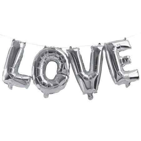 """""""Love"""" - Bogstaver - Sølv - 933"""