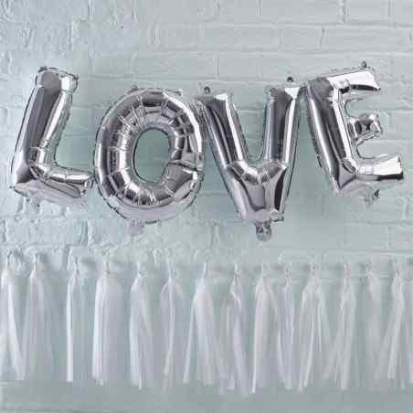 """""""Love"""" - Bogstaver - Sølv - 934"""