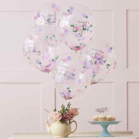 """""""Happy Birthday"""" Konfetti Balloner - 938"""