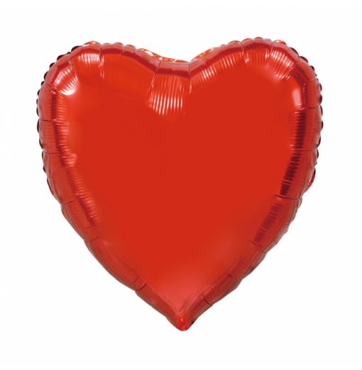 Kæmpe Hjerte folieballon Rød 92 cm