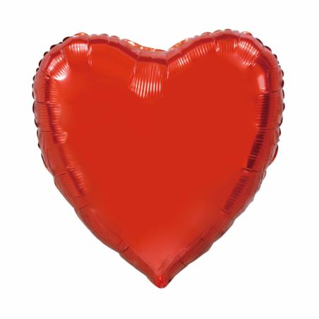 Kæmpe Hjerte folieballon Rød 92 cm - 98